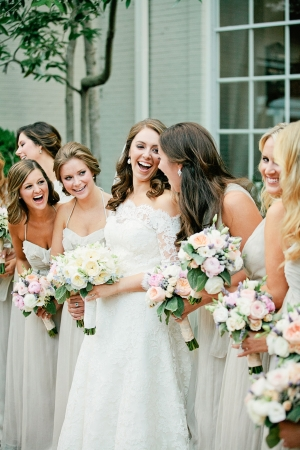 Pale Gray Bridesmaids Dresses