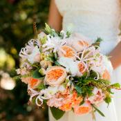 Peach Peony Bridal Bouquet