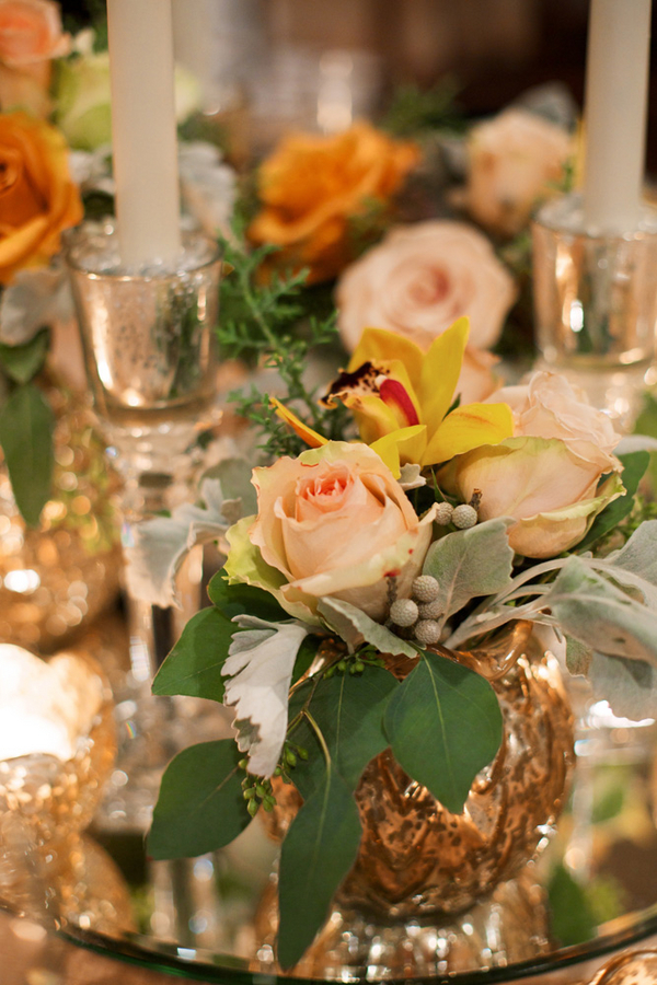 Peach and Brown Centerpiece
