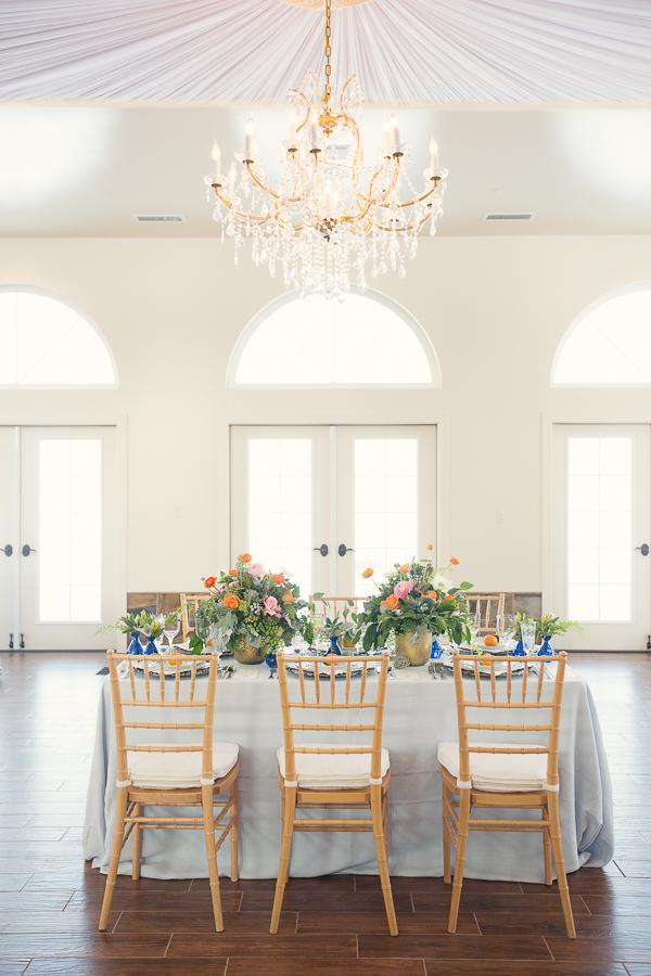 Peach and Turquoise Wedding Decor