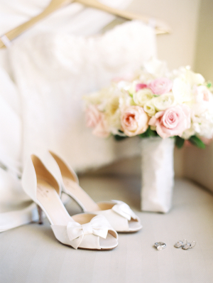 Peep Toe Bridal Shoes With Bows