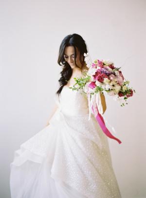 Pink Ribbon Streamer Bouquet