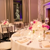Pink and Purple Hotel Reception Decor