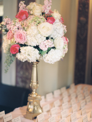 Pink and Red Rose and Hydrangea Arrangement