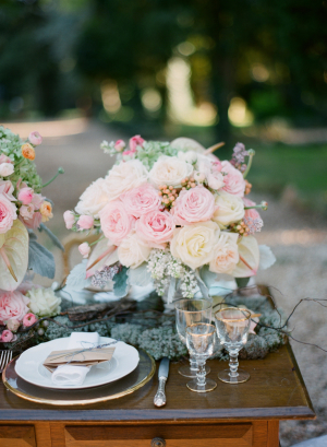 Pink and Yellow Wedding Flowers by Bo Boutique Flowers
