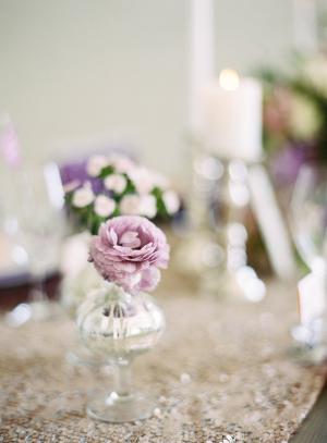 Purple Flowers in Bud Vase