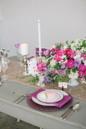 Purple Place Setting