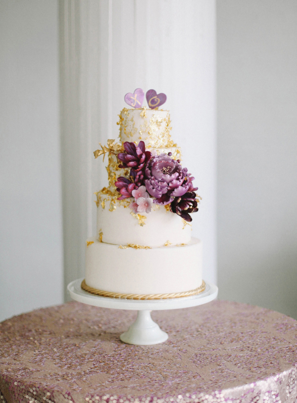 royal purple and gold wedding cake purple and gold wedding cake elizabeth designs the 19409