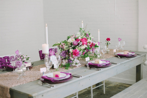 Purple and Gray Tabletop