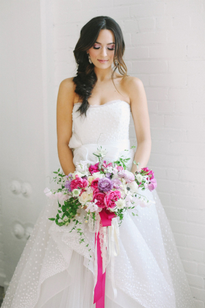 Purple and Hot Pink Bouquet