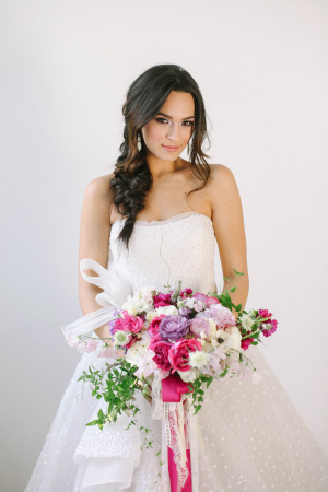 Purple and Pink Bridal Bouquet