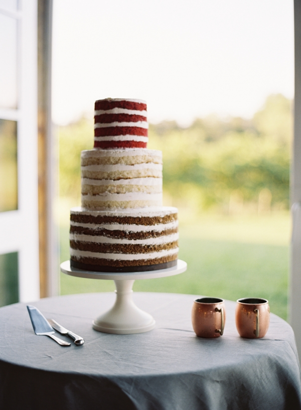 Red Velvet Vanilla and Chocolate Naked Cake