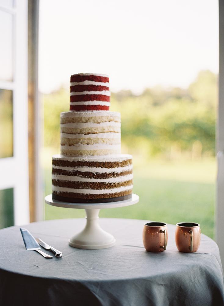 Red Velvet Vanilla and Chocolate Naked Cake - Elizabeth Anne Designs ...