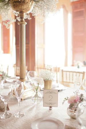 Romantic Elegant Reception Decor