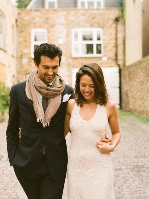 Romantic Halter Gown Engagement Inspiration