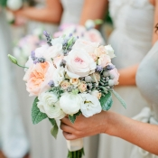 Rose Peony Ranunculus and Astilbe Bouquet