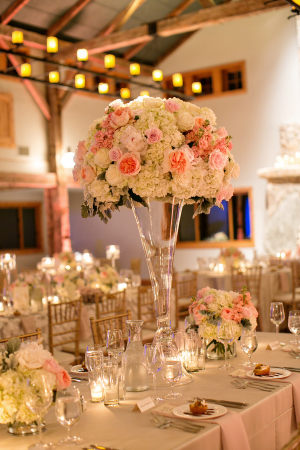 Rose and Hydrangea Reception Flowers