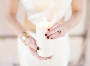 Ruby Red Manicure Bridal Inspiration