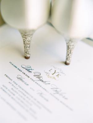 Silver Glitter Bridal Heels