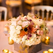 Silver and Gold Floral Container