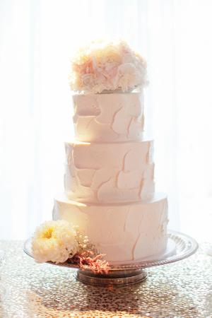 Spackled Buttercream Wedding Cake