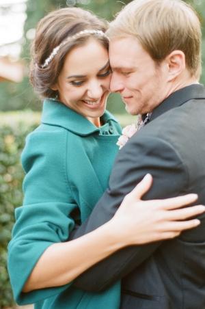 Teal Coat for Bride