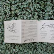 Trifold Wedding Ceremony Program