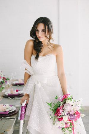 Tulle Tie on Wedding Dress