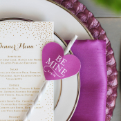 Valentines Wedding Place Setting