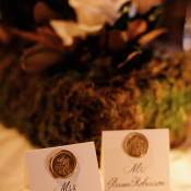 Wax Seal Family Crest Escort Cards