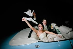 Wedding Exit Waving Handkerchiefs