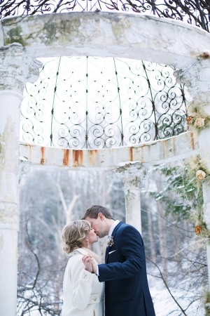 Winter Gazebo Wedding Pictures