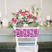 Woven Ribbon Chair Decoration
