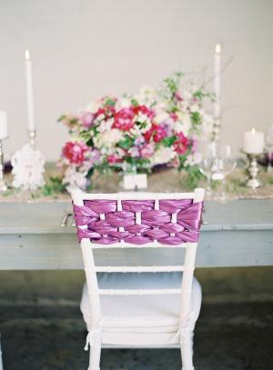 Woven Ribbon Chair Decoration