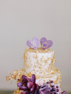 XO Heart Cake Topper