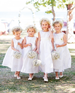 Babys Breath Flower Girl Baskets