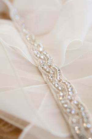 Beaded Belt Bridal Gown Detail