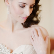 Beaded Detail on Bridal Gown
