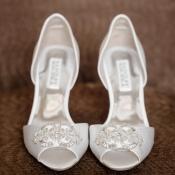 Beaded Peep Toe Bridal Shoes