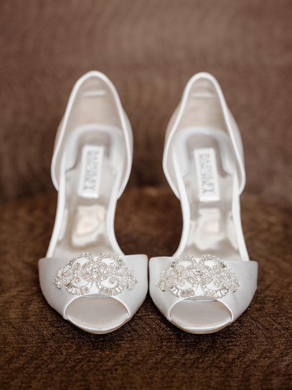 a2cb1037ff Beaded Peep Toe Bridal Shoes - Elizabeth Anne Designs: The Wedding Blog