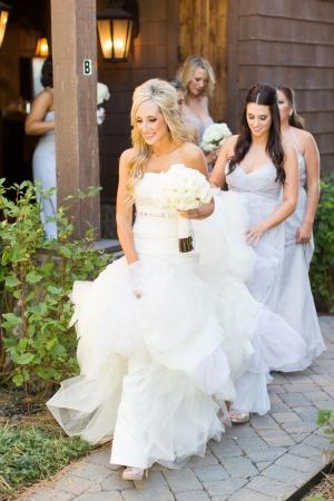 Beaded Waist Elegant Bridal Gown