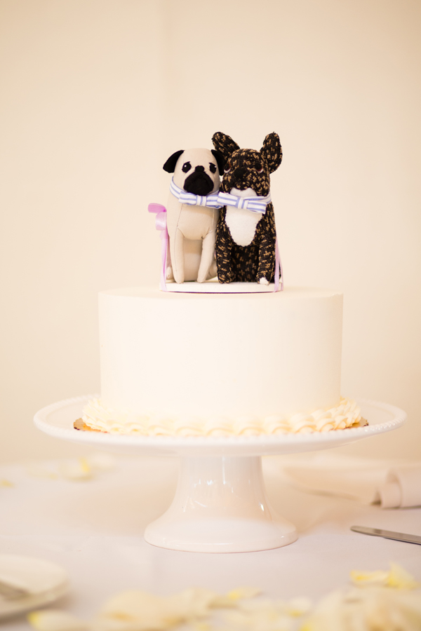 Black and White Dogs Wedding Cake Topper