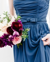Blue Silk Bridesmaids Dress