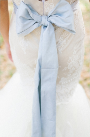 Blue Wedding Sash