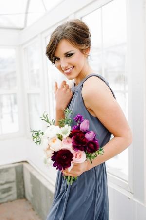 Blue and Purple Bridesmaid