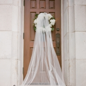 Bridal Veil on Church Door