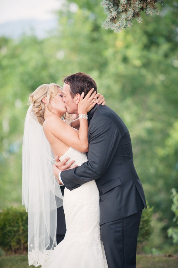 Bride and Groom First Kiss - Elizabeth Anne Designs: The Wedding Blog