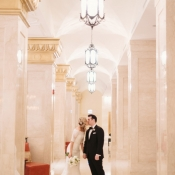 Bride and Groom at The Rookery Chicago Wedding Venue