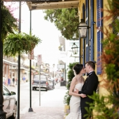 Bride and Groom in Downtown New Orleans