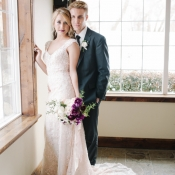 Bride in Beaded Ivory Gown